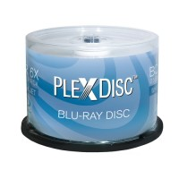 PlexDisc 6x fach Speed, 25GB White Inkjet Hub Printable BD-R 50 Stück in der Cake Box
