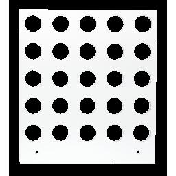Primera Eddie - manuelles Tablett 12 cm² - 15/20 mm 5 x 5 Radius (25 Löcher mit 15 mm Durchmesser; für Objekte mit maximaler maximal 20mm Außendurchmesser), z.B. für Macarons, Kekse, Plätzchen u.v.m