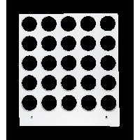Primera Eddie - manuelles Tablett 12 cm Quadrat - 20 mm 5 x 5 Radius (25 Löcher mit 20 mm Durchmesser; für Objekte mit maximaler maximal 20mm Außendurchmesser), z.B. für Kekse, Plätzchen, Cookies u.v.m