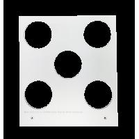 Primera Eddie - manuelles Tablett 12 cm Quadrat - 35 mm 5  Radius (z.B. Macarons) (5 Löcher mit 35 mm Durchmesser; für Objekte mit maximaler maximal 35mm Außendurchmesser), z.B. für Cookies, Plätzchen, Kekse u.v.m