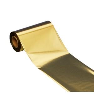 Gold Folie, glänzend metallisch für Primera & DTM FX810e , 220mm breit x 200m lang