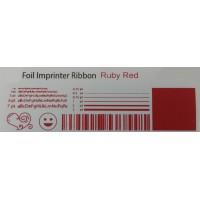 Rubin rote Folie, für Primera & DTM FX400e/FX500e/FX510e 110mm breit x 200m lang