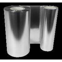 Silber Folie,  glänzend metallisch für Primera FX400e/FX500e & DTM FX510e/ FX810e , 65mm breit x 200m lang