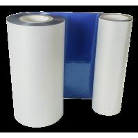 BlaueFolie, glänzend metallisch für Primera FX400e/FX500e & DTM FX510e/FX810e 65mm breit x 200m lang