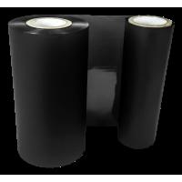 Schwarze Folie, glänzend metallisch für Primera FX400e/FX500e & DTM FX510e/ FX810e, 110mm breit x 200m lang