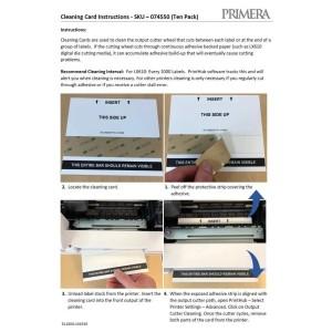 LX610e Zubehör: Reinigungskarten für Ausgabeschneider (10er Pack). Zur Verwendung mit dem LX610.