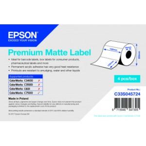Epson Etikettenrolle, Normalpapier, Premium matt beschichtet, f. ColorWorks C7500, BxH: 102x152mm, 800 Etiketten/Rolle