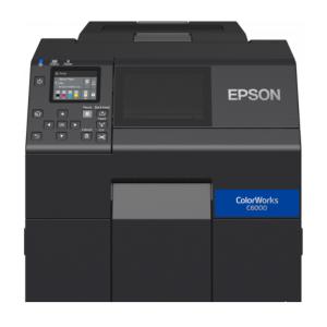 Epson ColorWorks CW-C6000Ae Farbetikettendrucker mit 212mm Druckreite (mk), Cutter, Disp., USB, Ethernet, schwarz