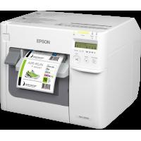 Epson TM-C3500 Farbetikettendrucker mit Cutter, USB, Netzwerkanschluss, für Regal- und GHS / BS-Etiketten und Etiketten-Software Nicelabel