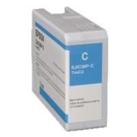 Epson Tintenpatrone, cyan 80 ml, passend für Farbetikettendrucker ColorWorks C6000 Serie