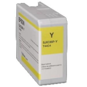 Epson Tintenpatrone, gelb 80 ml, passend für Farbetikettendrucker ColorWorks C6000 Serie
