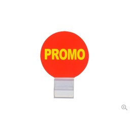Evolis Preisschilder Zubehör Angebotskennzeichnung mit Schriftzug PROMO + transparenter Befestigungsclip