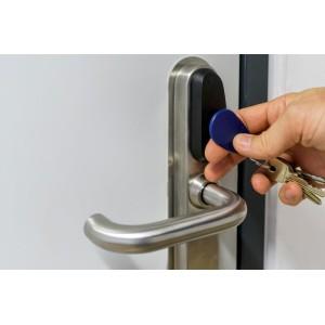 RFID personalisierbarer Schlüsselanhänger/Keyfob Mifare Classic mit Wunschchip bestücken, Kunststoff, verschiedene Farben für Zugangskontrolle, Identifizierung u.v.m.