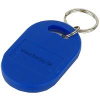 RFID Schlüsselanhänger  Keyfob EM4200 125KHz Chip, ovale Form in blau