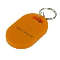 RFID Schlüsselanhänger  Keyfob EM4200 125KHz Chip, ovale Form in orange