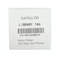 RFID Bücher Aufkleber, 50mm×50mm, mit UHF Alien H3 Chip