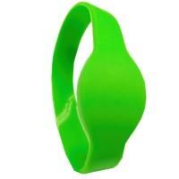 RFID Wristband Silikon mit ovalem Kopf, grün mit ...
