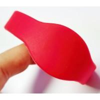 RFID Wristband Silikon mit ovalem Kopf, rot mit MI...