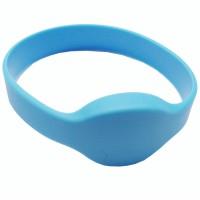 RFID Wristband Silikon mit ovalem Kopf, hellblau m...