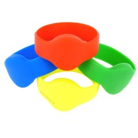 RFID Silikon Armband (Wristband) mit rundem Kopf, ...