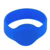 RFID Silikon Armband (Wristband) mit Alien H3 Chip, blau 55mm