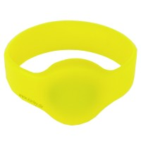 RFID Silikon Armband (Wristband) mit Alien H3 Chip, gelb 55mm