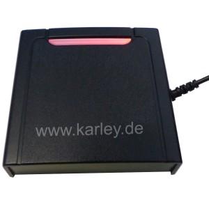RFID USB Desktop Lesegerät  USB -  unterstützt 125KHZ EM ID Card mit HID Interface - B-Ware Knickschutz außerhalb