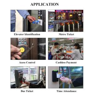 RFID personalisierbarer Schlüsselanhänger/Keyfob mit Wunschchip bestücken, klein, leicht & bequem zu tragen, verschiedene Farben für Zugangskontrolle, Identifizierung u.v.m.