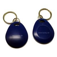 RFID Schlüsselanhänger/Keyfob blau bauchig mit dem F08 Chip, MIFARE 1K kompatibel