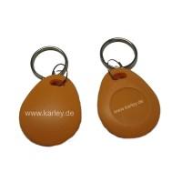 RFID Schlüsselanhänger/Keyfob orange bauchig mit dem F08 Chip, MIFARE 1K kompatibel