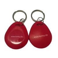 RFID Schlüsselanhänger/Keyfob EM4200 rot bauchig 125KHz
