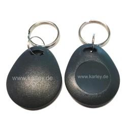 RFID Schlüsselanhänger/Keyfob schwarz bauchig mit dem F08 Chip, MIFARE 1K kompatibel