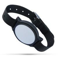 Armband (Nylon Wristband) in schwarz mit Alien H3 Chip