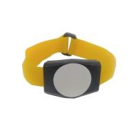 RFID Armband für MIFARE® NXP I-CODE SLI (ISO15693) mit 13,56 MHz Farbe Tag: schwarz, Farbe Armband: gelb