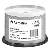 Verbatim DataLife Plus Professional Tintenstrahl bedruckbar - 50er Spindel Archivierungs DVD - 43744