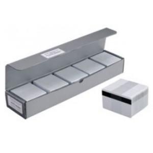 Zebra Plastikkarte mit Magnetstreifen, HiCo, 0,76mm, Dicke: 30mil, Verpackungseinheit: 500 Stück, Farbe: weiß