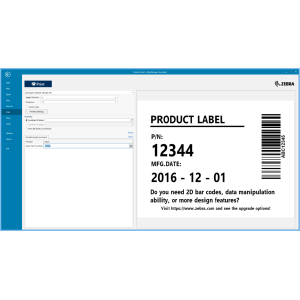 Barcode Etiketten Design Software: ZebraDesigner 3 Pro, physische Lizenzschlüsselkarte