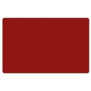 Zebra Premier Karte, rot aus PVC, 30mil (0,76mm) Stärke im ISO Kartenformat bedruckbar