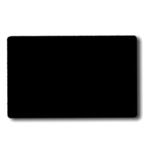 Plastikkarte, ohne Magnetstreifen, 15 mil, Farbe: schwarz