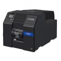 Farbetikettendrucker Epson ColorWorks CW‑,C6000Ae, Cutter, Display, USB, Ethernet, schwarz Druckbreite max. 108mm