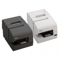 Mehrstationen-Drucker kombiniert Thermodirekt & Nadeldruck, Epson TM-H6000V, USB, RS232, Ethernet, Cutter, OPOS, ePOS, schwarz