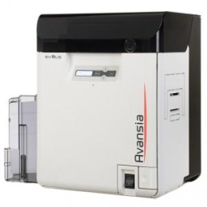 Hochauflösender Retransfer Kartendrucker Evolis Avansia, beidseitig, 24 Punkte/mm (600dpi), USB, Ethernet, MSR, Display