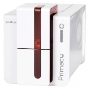 Vielseitiger Kartendrucker für ein- und beidseitige Karten Evolis Primacy, beidseitig, 12 Punkte/mm (300dpi), USB, Ethernet, blau inkl. Magnetkartensc