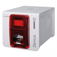 Einstiegsdrucker für Kunststoffkarten Evolis Zenius Classic, einseitig, 12 Punkte/mm (300dpi), USB, rot