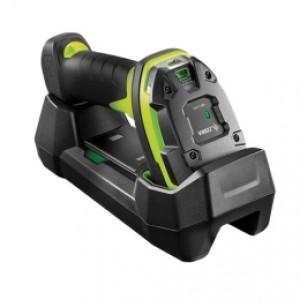Zebra Industrie-Funk Barcode Scanner, DS3678-SR, Bluetooth, 2D, SR, FIPS, Schutzart: IP67, Kabel (USB, gerade, 2m), Netzteil, Netzkabel (US), Lade-/Übertragungsstation, Farbe: schwarz, grün