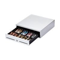 Metapace K-1, Frontöffnung, Maße (BxHxT): 410x114x415mm, Einsatz: 6 Scheinfächer, 8 Münzfächer, 1 Scheckfach, Anschluß an Kassendrucker,Farbe ws