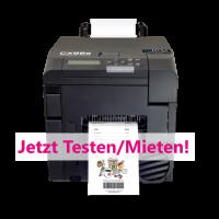*Service* Farbetikettendrucker Primera CX86e miete...