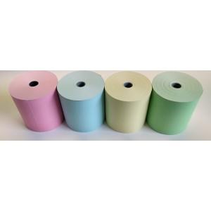 Gelbe Thermorollen , Kassen- Bonrollen 80mm/80m/12mm, 30 Rollen in der VPE, Bisphenol A frei, Altpapier fähig