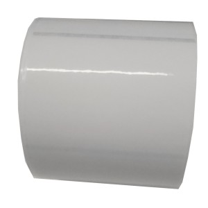 51x25mm (BxH) 2375 Etiketten auf Rolle, (2x1'') durchsichtiges Polyester ECO Kern: 76mm (3'') AD: 15,2cm (6'') für Primera LX810e, LX900e, LX910e, LX1000e, LX2000e