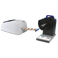 Demogerät: LX500e Farb Etikettendrucker von Primera mit Rewinder RW-4EU Bundle